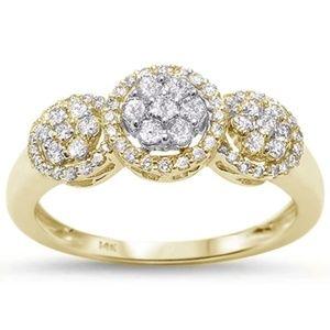 yellow gold 14k  diamond ring